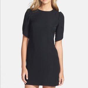Cynthia Steffe Dress Black Tulip Sleeve Shift